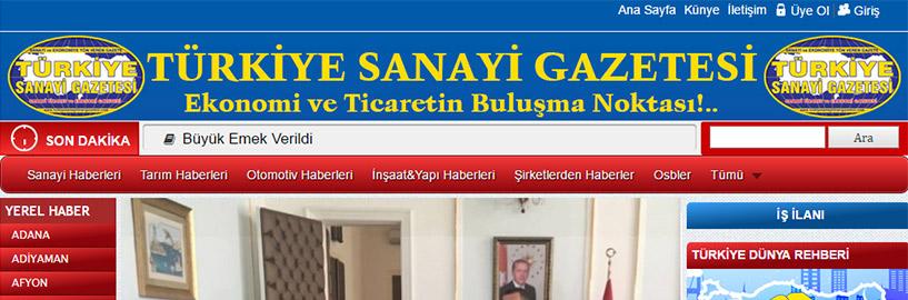 TÜRKİYE SANAYİ GAZETESİ