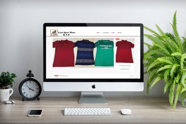 Lion Sports Wear – Web Tasarım